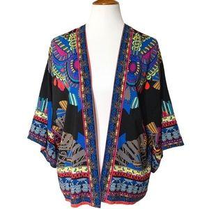 Flying Tomato Open Front Kimono Jacket